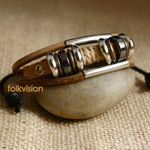 Ethnic Tribal Leather Surfer Bracelet LB120