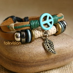 Ethnic Tribal Leather Surfer Bracelet LB121