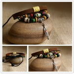 Ethnic Tribal Leather Surfer Bracelet LB122