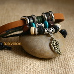 Ethnic Tribal Leather Surfer Bracelet LB123
