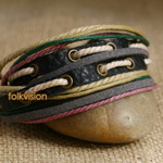 Ethnic Tribal Leather Surfer Bracelet LB127