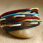 Ethnic Tribal Leather Surfer Bracelet LB128