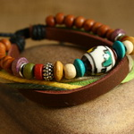 Ethnic Tribal Leather Surfer Bracelet LB130