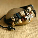 Ethnic Tribal Leather Surfer Bracelet LB131