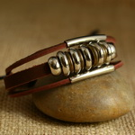 Ethnic Tribal Leather Surfer Bracelet LB132