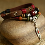 Ethnic Tribal Leather Surfer Bracelet LB133