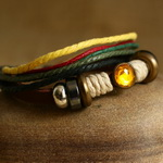 Ethnic Tribal Leather Surfer Bracelet LB134