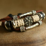 Ethnic Tribal Leather Surfer Bracelet LB135