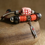 Ethnic Tribal Leather Surfer Bracelet LB136