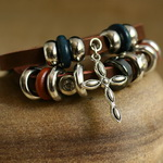 Ethnic Tribal Leather Surfer Bracelet LB137