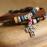 Ethnic Tribal Leather Surfer Bracelet LB139