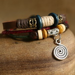 Ethnic Tribal Leather Surfer Bracelet LB141