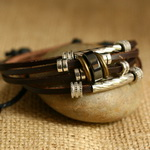 Ethnic Tribal Leather Surfer Bracelet LB142