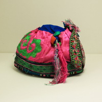 Vintage Chinese Tribal Miao Embroidered Baby Hat H6039