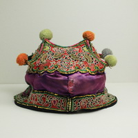 Vintage Chinese Tribal Dong Embroidered Baby Hat H7007