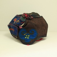Vintage Chinese Tribal Miao Embroidered Baby Hat H7026
