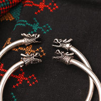 Pair of Ethnic Tribal Miao Handmade Bracelet JB196