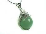 Unique Chinese sterling silver and jade Necklace JD015