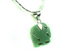 Unique Chinese sterling silver and jade Necklace JD021