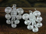 Sterling Silver Ethnic Tribal Miao Handmade Earrings JE177