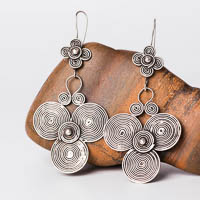 Ethnic Tribal Miao Handmade Earrings JE208