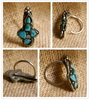 Old Tibetan Miao Handmade Earrings JO056
