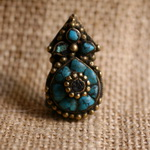 Old Tibetan Miao Handmade Earrings JO060