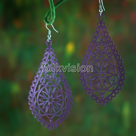 Ethnic Tribal Dangle Earrings FE070 - Click Image to Close