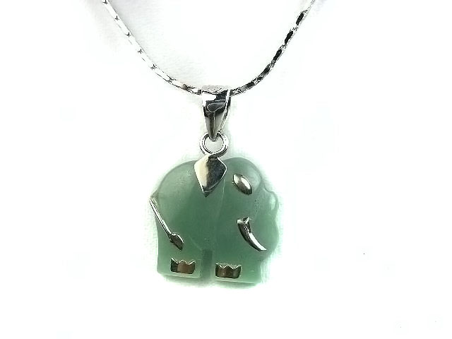 Unique Chinese sterling silver and jade Necklace JD021 - Click Image to Close