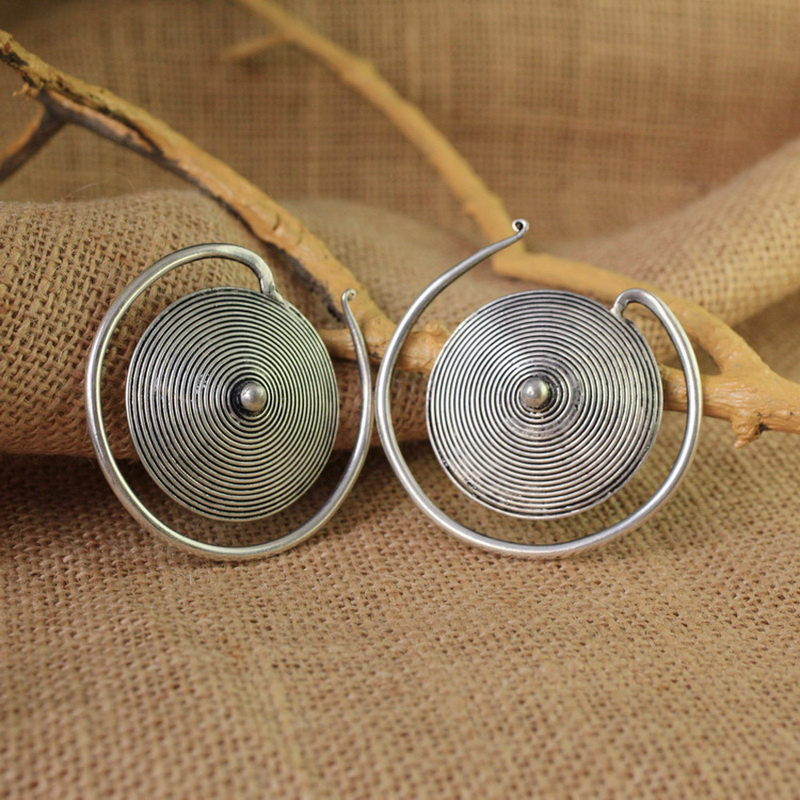 Ethnic Tribal Miao Handmade Earrings JE199 - Click Image to Close