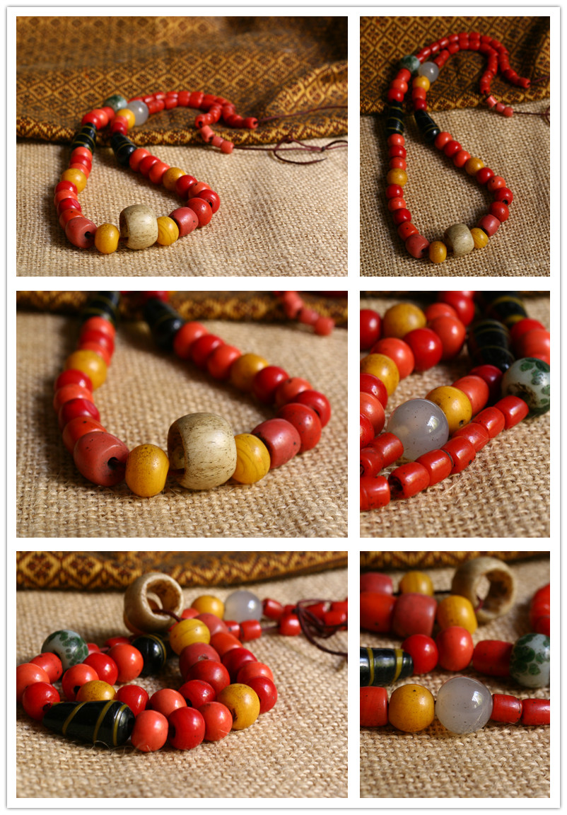 Old Tibetan Miao Handmade Necklace JO051 - Click Image to Close