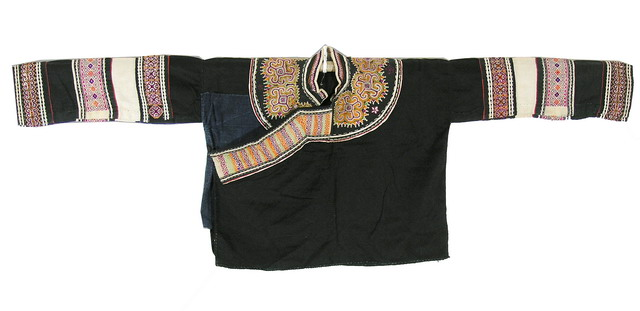 Old Chinese Tribal Miao Embroidered Jacket C8031 - Click Image to Close