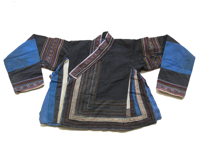 Old Chinese Tribal Miao Embroidered Jacket S6034 - Click Image to Close