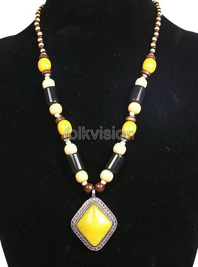 Ethnic Tribal Tibetan Beaded Necklace TN007 - Click Image to Close