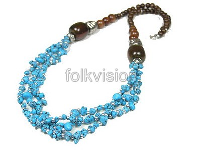Ethnic Tribal Tibetan Beaded Necklace TN009 - Click Image to Close