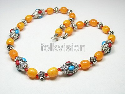 Ethnic Tribal Tibetan Beaded Necklace TN012 - Click Image to Close