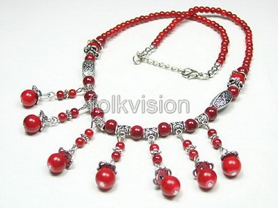 Ethnic Tribal Tibetan Beaded Necklace TN014 - Click Image to Close