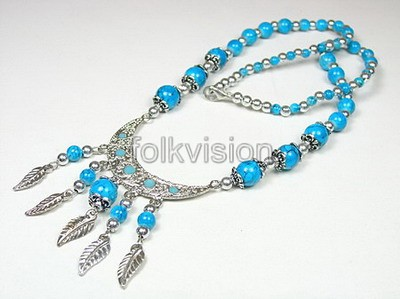Ethnic Tribal Tibetan Beaded Necklace TN015 - Click Image to Close