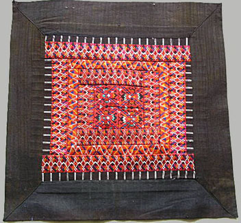 Old Chinese Miao Textile Embroidered Panel EP6137 - Click Image to Close