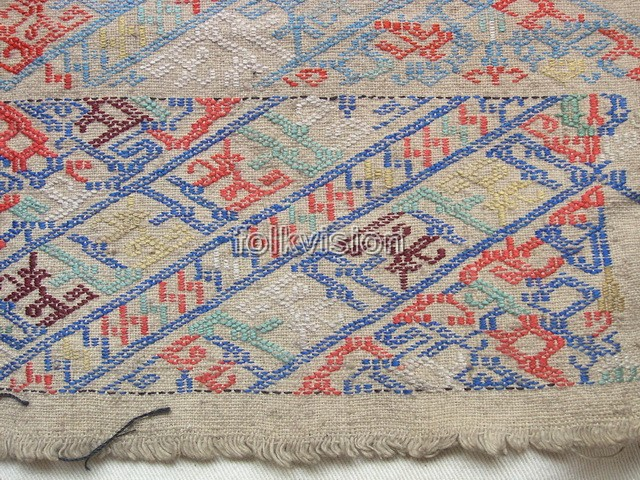 Old Chinese Miao Textile Embroidered Panel EP6176 - Click Image to Close