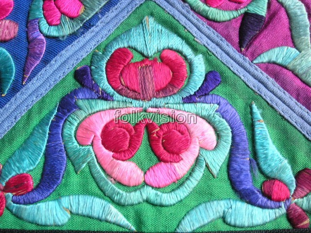 Old Chinese Miao Textile Embroidered Panel EP8020 - Click Image to Close