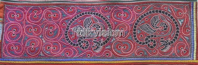 Old Chinese Miao Textile Embroidered Panel EP8050 - Click Image to Close