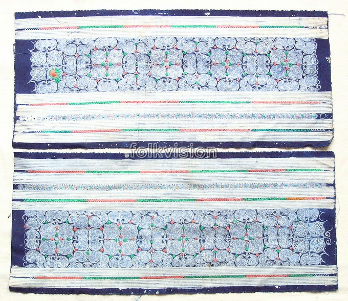 Old Chinese Miao Textile Embroidered Panel EP8060 - Click Image to Close