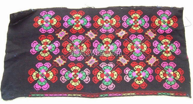 Old Chinese Miao Textile Embroidered Panel EP8068 - Click Image to Close