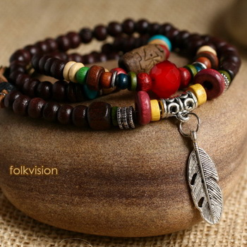 Ethnic Tribal Leather Surfer Bracelet LB023
