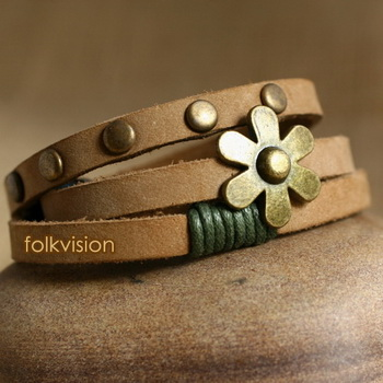 Ethnic Tribal Leather Surfer Bracelet LB145