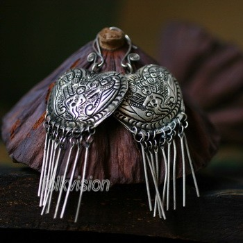Ethnic Tribal Miao Handmade Earrings JE288