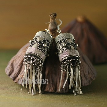 Ethnic Tribal Miao Handmade Earrings JE294