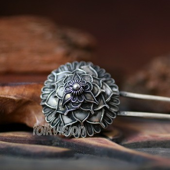 Tribal Ethnic Miao Handmade Hairpin JH075