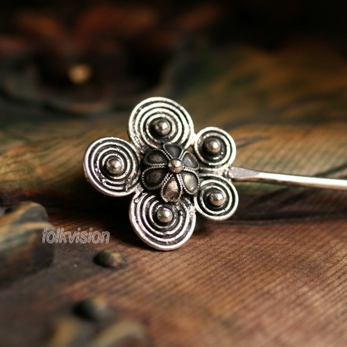 Tribal Ethnic Miao Handmade Hairpin JH081